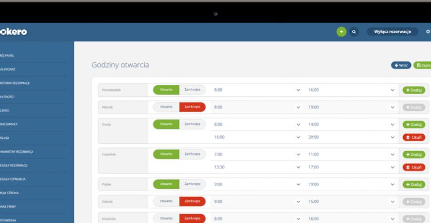 Definiowanie dostępności godzin nową funkcją dla edycji pracowników oraz profilu firmy